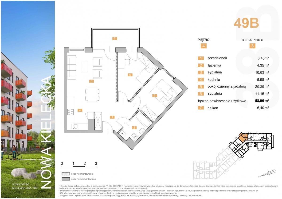 Mieszkanie 49B - 58,96 m2