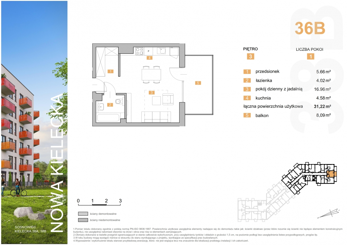 Mieszkanie 36B - 31,22 m2