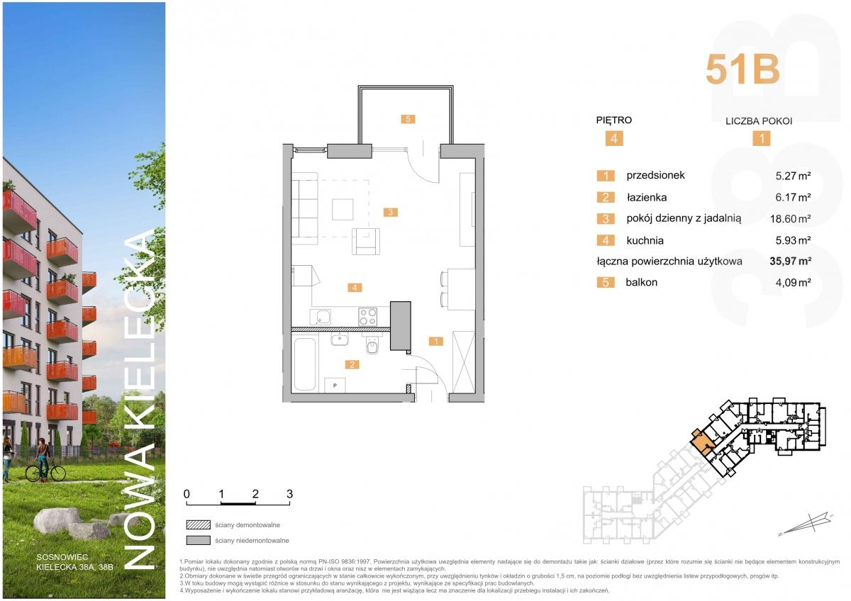 Mieszkanie 51B - 35,97 m2