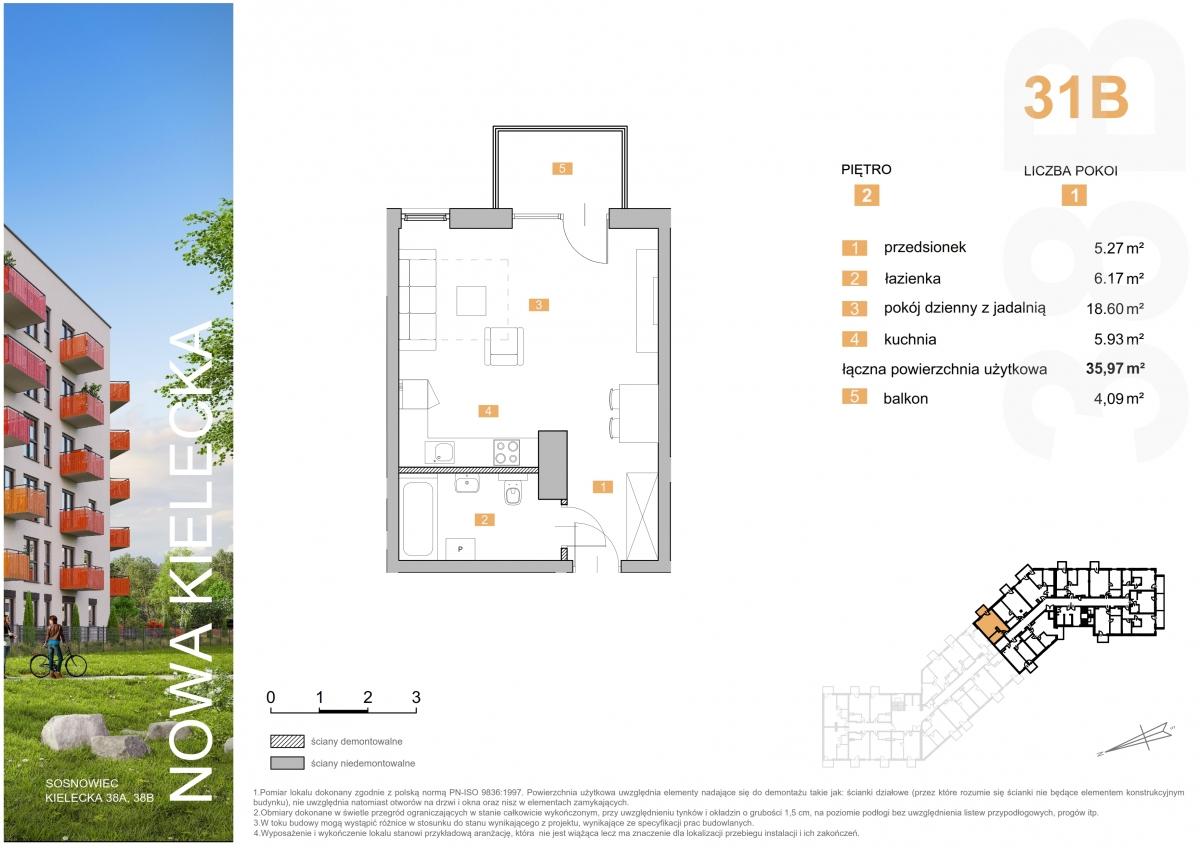 Mieszkanie 31B - 35,97 m2
