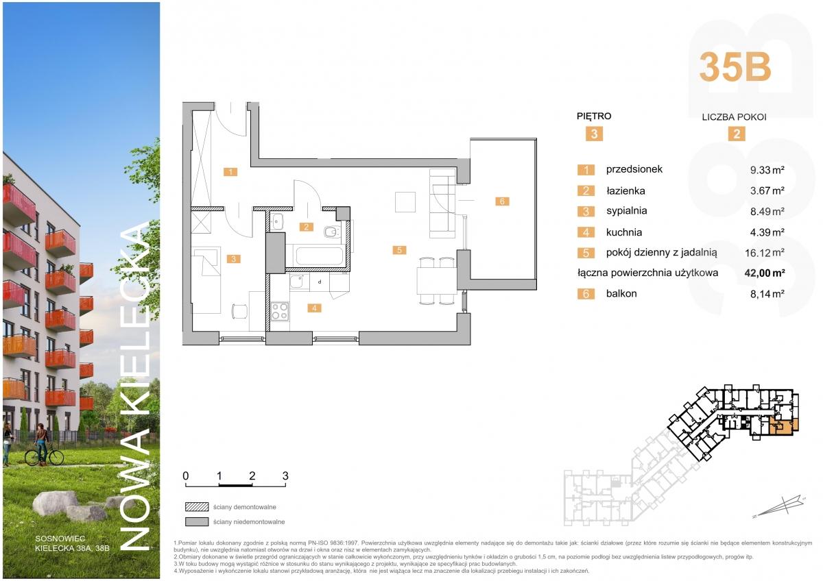 Mieszkanie 35B - 42,00 m2