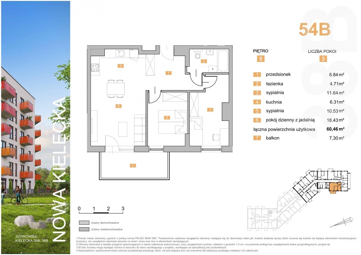 Mieszkanie 54B - 60,46 m2