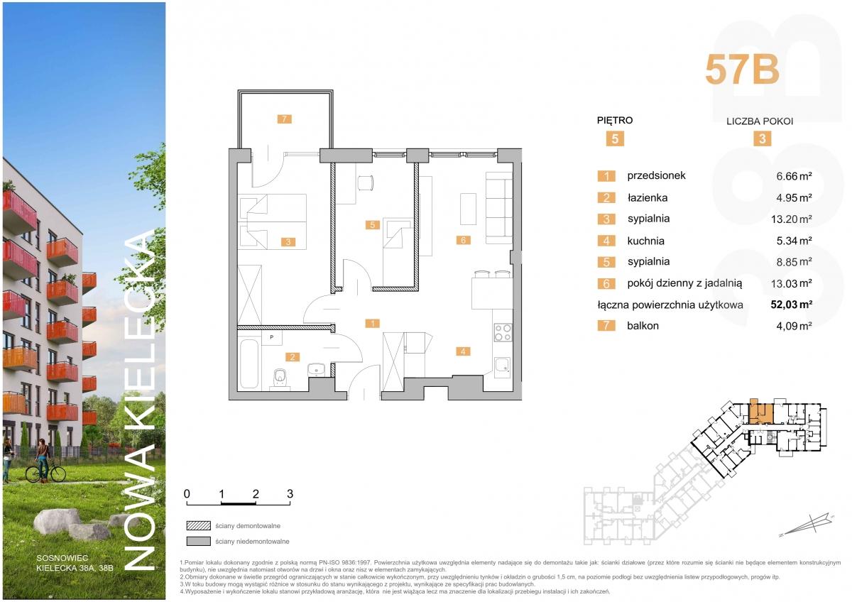 Mieszkanie 57B - 52,03 m2