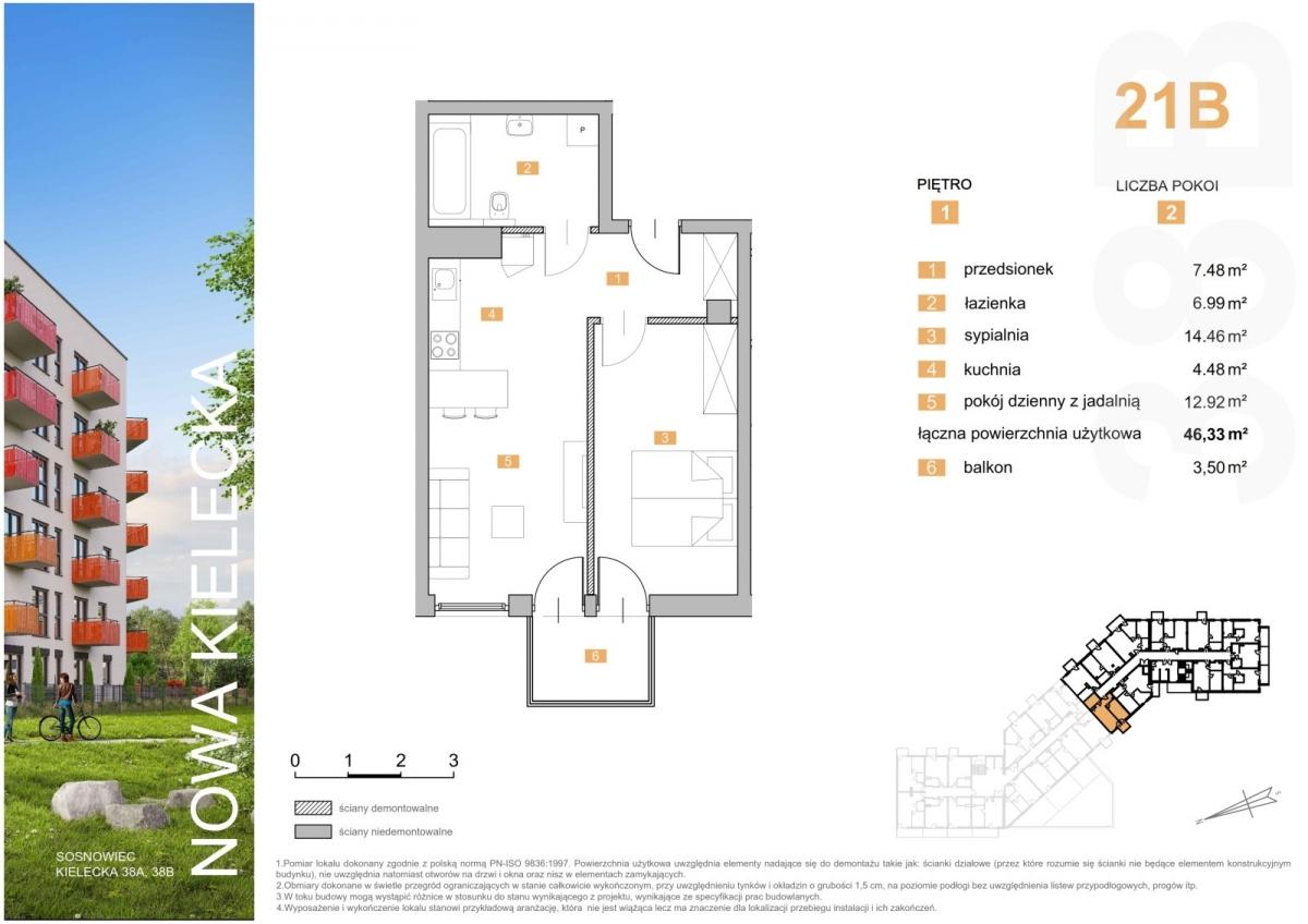 Mieszkanie 21B - 46,33 m2