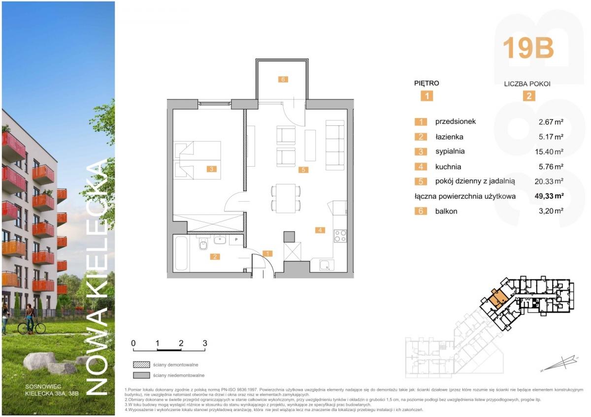 Mieszkanie 19B - 49,33 m2