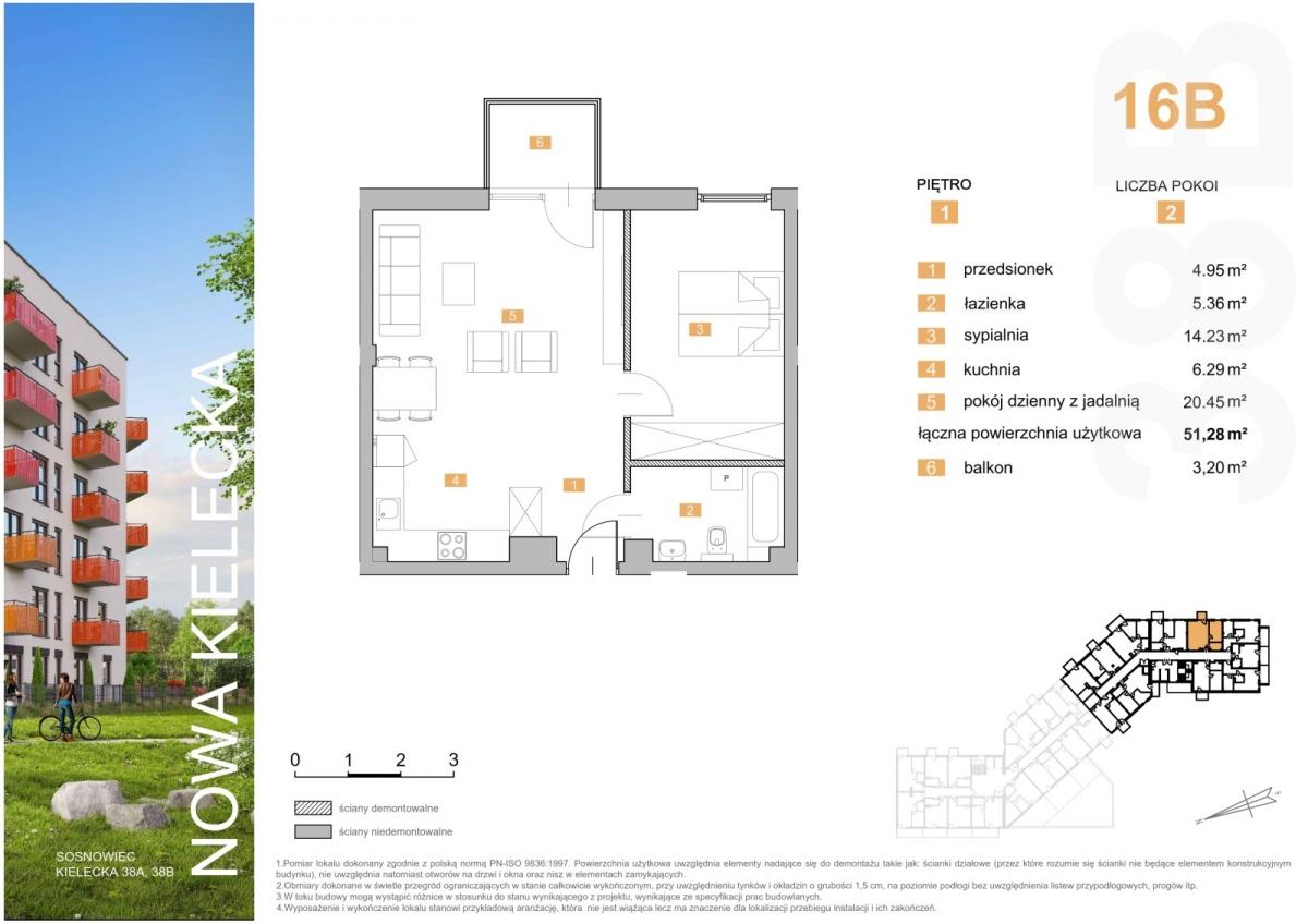 Mieszkanie 16B - 51,28 m2